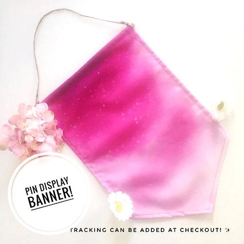 Vivid Pink Starry Sky Banner