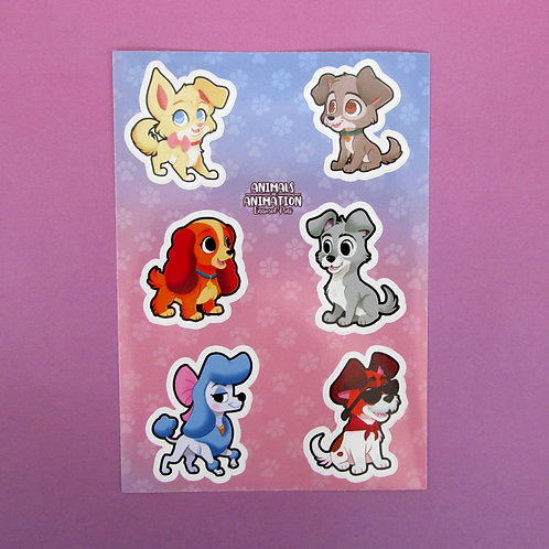 Animated Dogs Stickers Part 1