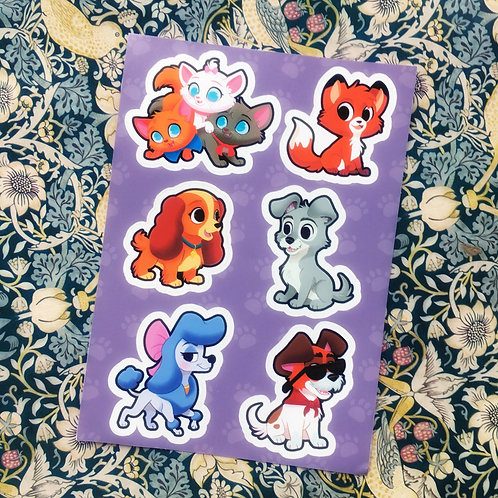 Animated Animals Sticker Sheet A6