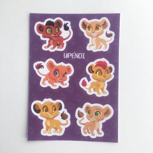 Pride Rock Sticker Sheet