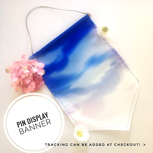 Bright Blue Sky Pin Banner