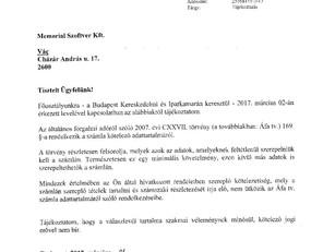 NAV állásfoglalás a Memorial Szoftver számlázó programjához
