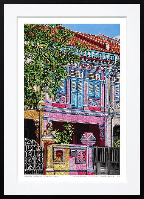 """Koon Seng Road in Pink"" by Nathalie Laoue"