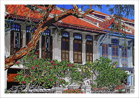 """""""Neo-Classical Emerald Hill Road"""" by Nathalie Laoue"""