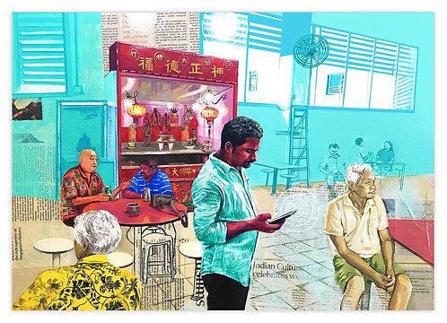 """Thinking Tamil, Talking Singlish, Eating Chinese"" by Zoya Chaudhary"