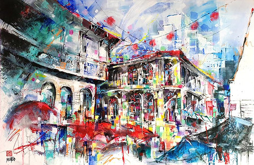 """Trengganu Street Beckons"" by Melissa Teo"