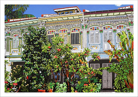 """""""Joo Chiat Terrace in the Greenery"""" by Nathalie Laoue"""