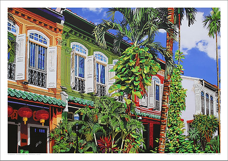 """""""Emerald Hill Road in Green & Red"""" by Nathalie Laoue"""
