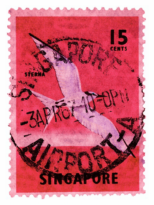 """""""Singapore Stamp Collection 15 cents"""" by Heidler & Heeps"""