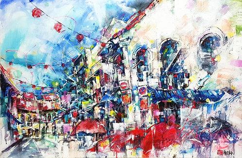 """Bustling Trengganu Street"" by Melissa Teo"