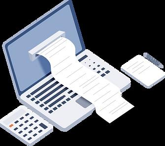Creative  Office invoice Isometric Illus