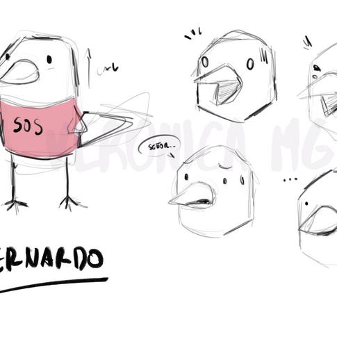 Bernardo character expresion sheet