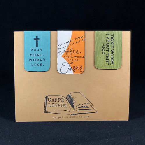 Coffee and Jesus Magnetic Bookmark Gift Set