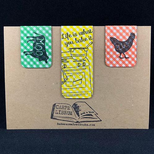 Farm and Baking Life Magnetic Bookmark Set