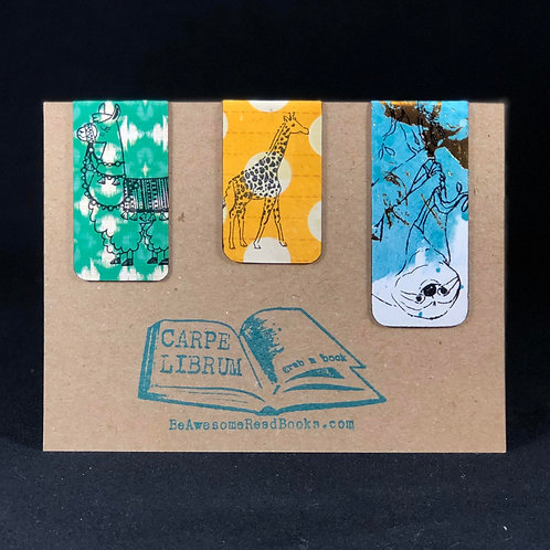 A Day at the Zoo Magnetic Bookmark Gift Set