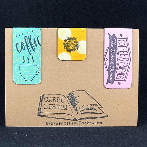 Coffee Drinker Magnetic Bookmark Gift Set
