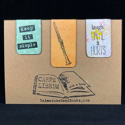 Keep it Simple, Clarinet Magnetic Bookmark Gift Set