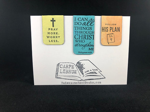 Pray More Magnetic Bookmark Gift Set