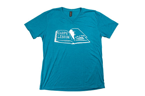 Grab a Book Blue V-Neck T-Shirt