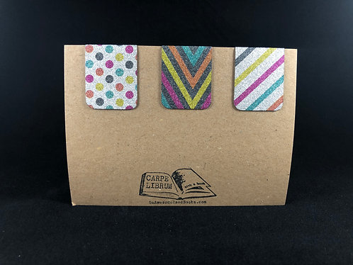 Glitter Magnetic Bookmark Gift Set