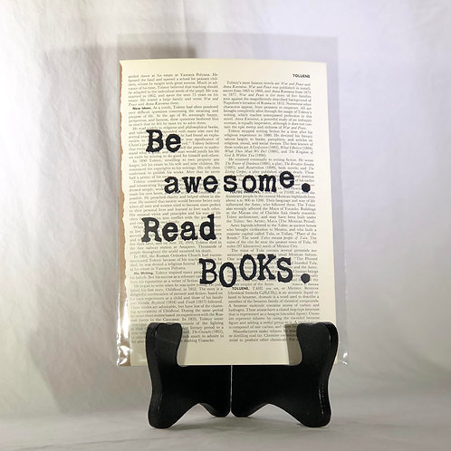 Be Awesome. Read Books. Encyclopedia Page Print