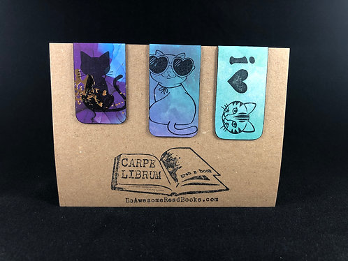 I Love Cats Magnetic Bookmark Gift Set
