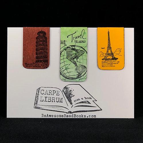 Travel the World Magnetic Bookmark Set