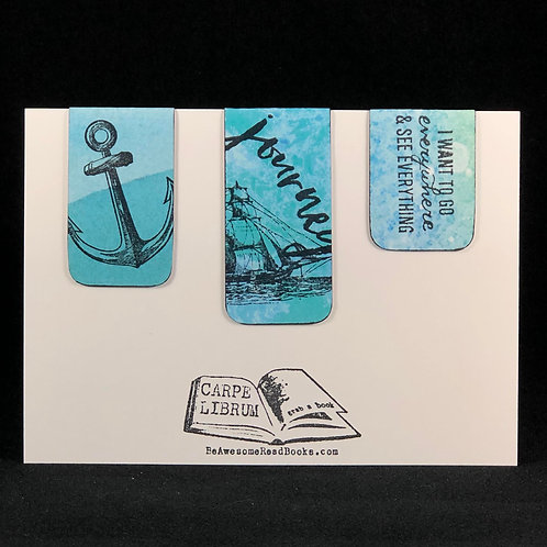 Sailing Journey Magnetic Bookmark Set