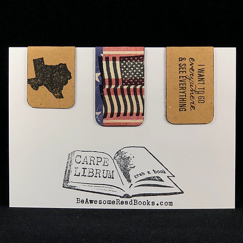 Texas American Magnetic Bookmark Set