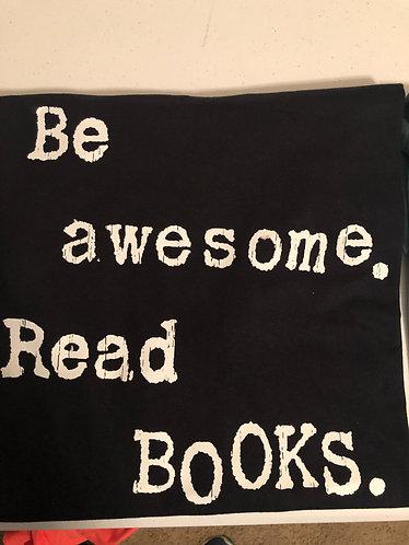 Be Awesome Black V-Neck T-Shirt