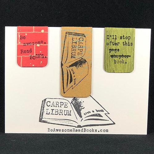 Carpe Librum  Special Design Magnetic Bookmark Gift Set