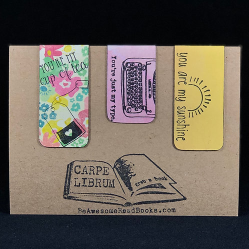 Punny Magnetic Bookmark Gift Set #2