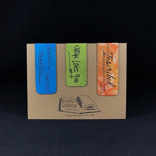 Inscribed Magnetic Bookmark Set