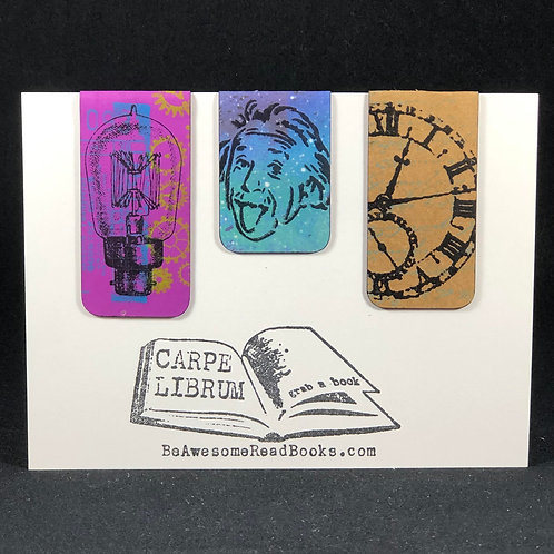 Einstein Light and Time Magnetic Bookmark Gift Set