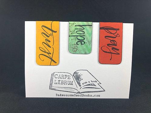 Pray Hope Trust Magnetic Bookmark Gift Set