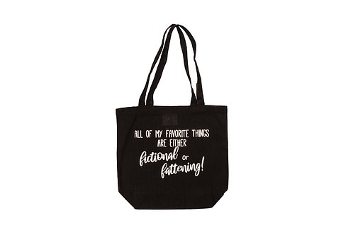 Fictional or Fattening Book Swag Bag