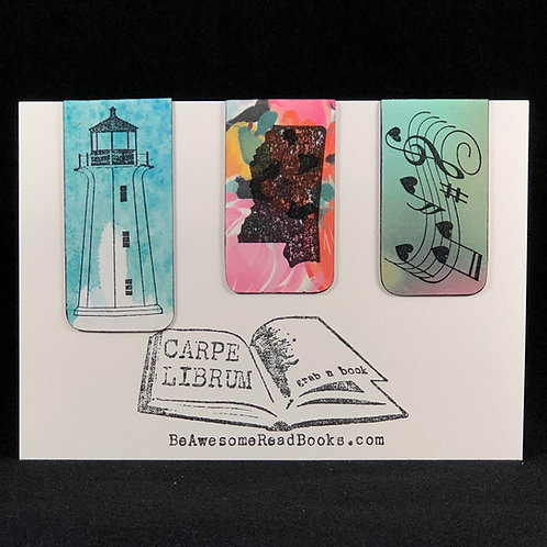 Mississippi Blues and Coast Magnetic Bookmark Set