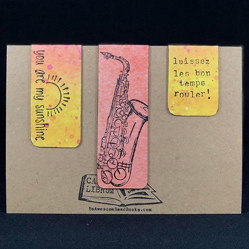 Louisiana Saxophone Magnetic Bookmark Set
