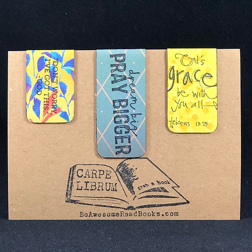 Pray Bigger Scripture Magnetic Bookmark Gift Set