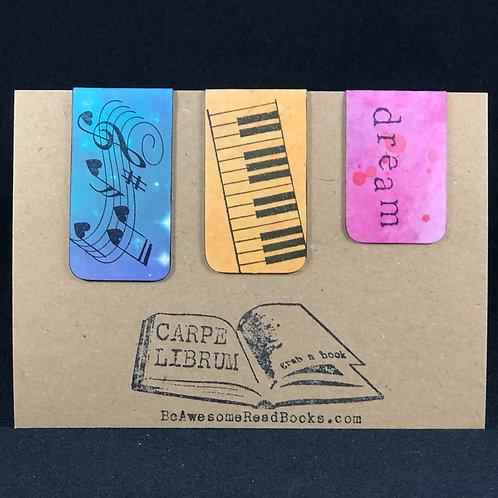 Piano Dream Magnetic Bookmark Set