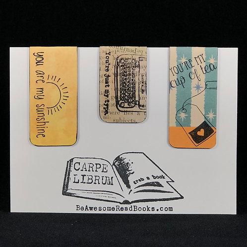 Punny Magnetic Bookmark Gift Set #1