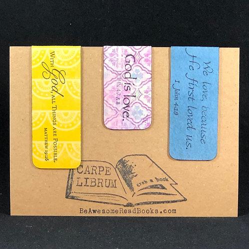 God is Love Scripture Magnetic Bookmark Gift Set