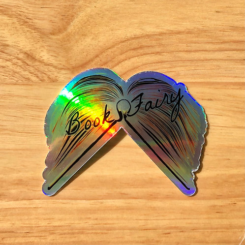 Book Fairy holographic sticker