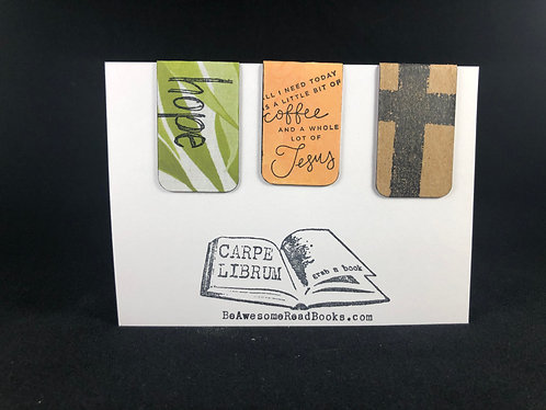 Coffee Hope and Jesus Magnetic Bookmark Gift Set