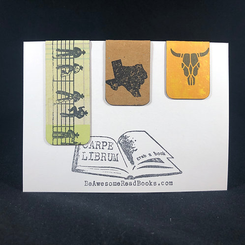 Texas Magnetic Bookmark Set
