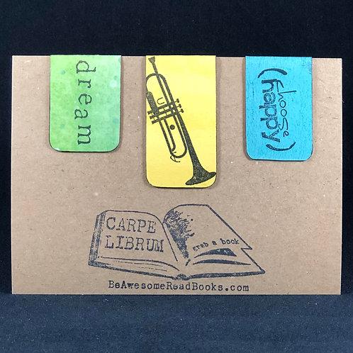 Happy Trumpet Magnetic Bookmark Set