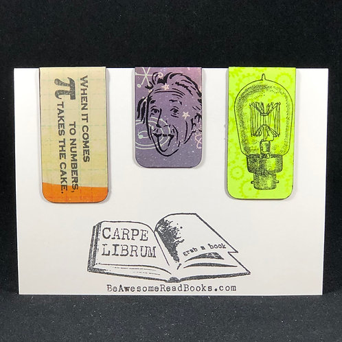 Einstein Light and Math Magnetic Bookmark Gift Set