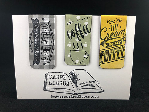 But First Coffee Magnetic Bookmark Gift Set