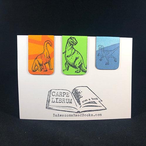 Dinosaur Magnetic Bookmark Set