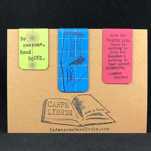 Bookish Life Bright Magnetic Bookmark Gift Set